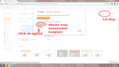 installing template in blogspot templates