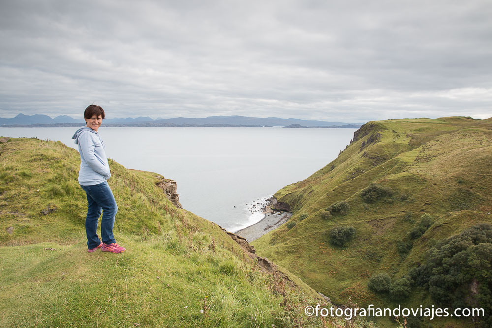 acantilados Kilt rock , isla de Skye