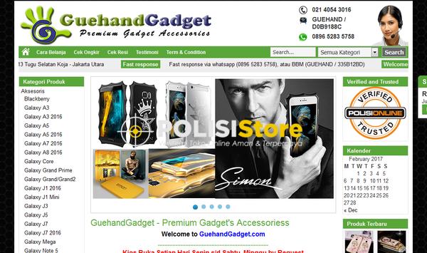 Guehandgadget - Verifikasi Toko Online Aman dan Terpercaya - Polisi Store