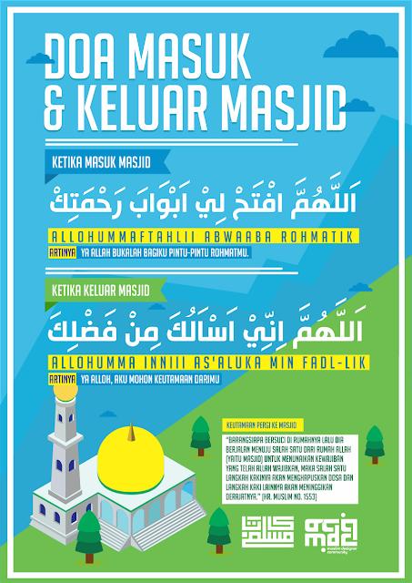 10 Poster Dakwah - Doa Masuk dan Keluar Masjid CDR File ...