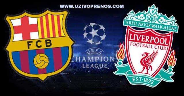Liga šampiona: Barselona - Liverpul uživo prenos preko interneta