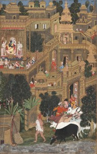 Very old painting of Dwarka.