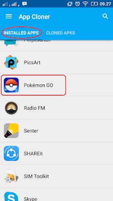 Cara Bermain 2 Akun Pokemon GO di 1 Android No Root, Cara Clone APK Pokemon Go Terbaru, Cara Main Pokemon GO lebih dari 1 akun di android.