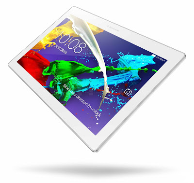Lenovo Tab 2 A10-70 Specifications - LAUNCH Announced 2015, March Versions Lenovo Tab 2 A10-70F Wi-Fi only Lenovo Tab 2 A10-70L Wi-Fi + 4G/3G (Data only) DISPLAY Type IPS LCD capacitive touchscreen, 16M colors Size 10.1 inches (~73.9% screen-to-body ratio) Resolution 1200 x 1920 pixels (~218 ppi pixel density) Multitouch Yes Protection Yes, up to 10 fingers BODY Dimensions 247 x 171 x 8.9 mm (9.72 x 6.73 x 0.35 in) Weight 509 g (1.12 lb) SIM Micro-SIM PLATFORM OS Android OS, v4.4.4 (KitKat), planned upgrade to v5.0 (Lollipop) CPU Quad-core 1.7 GHz Chipset Mediatek MT8732 - 4G modelMediatek MT8165 - Wi-Fi model GPU  MEMORY Card slot microSD, up to 64 GB (dedicated slot) Internal 16 GB, 2 GB RAM CAMERA Primary 8 MP, autofocus Secondary 5 MP Features Geo-tagging Video Yes NETWORK Technology GSM / HSPA / LTE 2G bands GSM 850 / 900 / 1800 / 1900 3G bands HSDPA 4G bands LTE Speed HSPA, LTE GPRS Yes EDGE Yes COMMS WLAN Wi-Fi 802.11 a/b/g/n, dual-band, hotspot GPS Yes USB microUSB v2.0 Radio FM radio Bluetooth v4.0 FEATURES Sensors Accelerometer Messaging SMS(threaded view), MMS, Email, Push Mail, IM Browser HTML5 Java No SOUND Alert types Vibration; MP3, WAV ringtones Loudspeaker Yes, with multiple speakers 3.5mm jack Yes  - Dolby Atmos BATTERY  Non-removable Li-Ion 7000 mAh battery Stand-by  Talk time Up to 15 h 30 min (multimedia) Music play  MISC Colors Pearl White, Midnight Blue  - MP3/WAV/AAC player - MP4/H.264 player - Document viewer - Photo/video editor