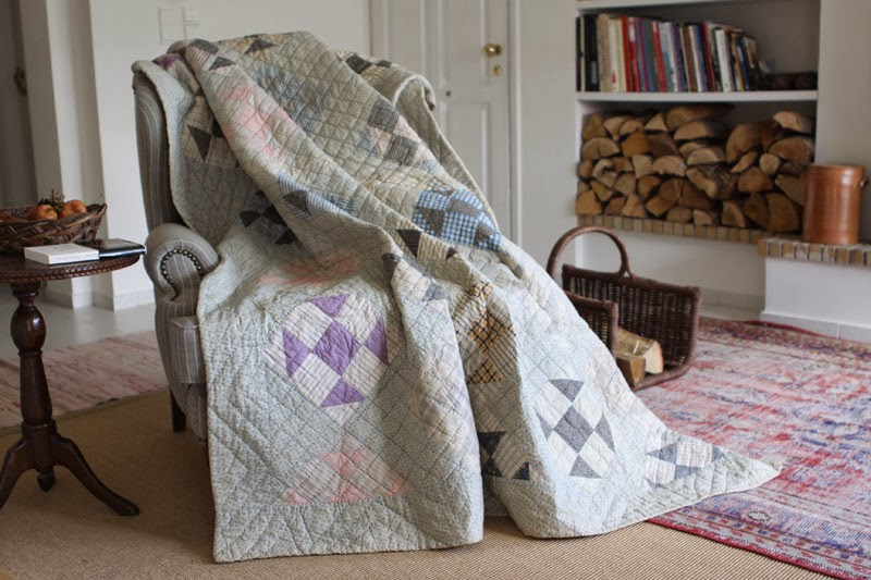 Quilt on a chair