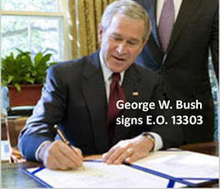 """Executive Order 13303"" by C40 =  5/13/17 Bush-signs-EO"