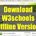 تحميل النسخة كاملة أوفلاين من مرجع تعليم البرمجة العالمية W3Schools