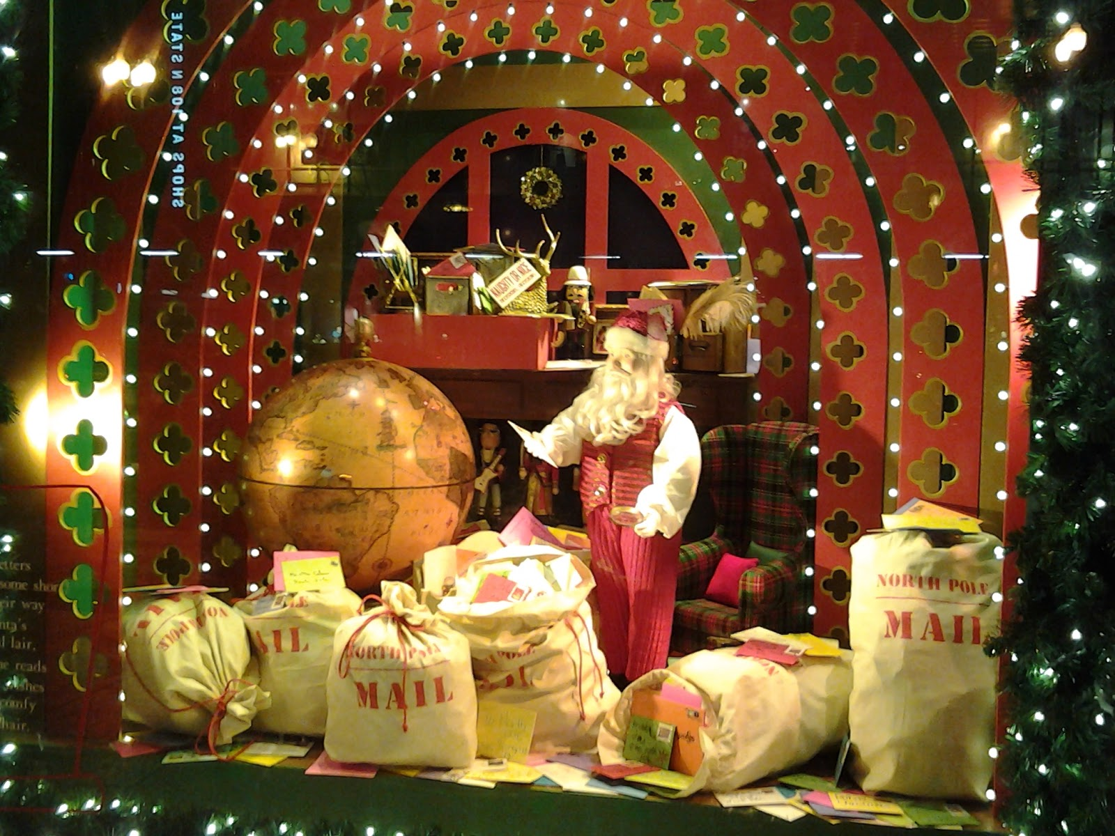 Chicago Macy's Christmas Windows 2014; Santa's Mail