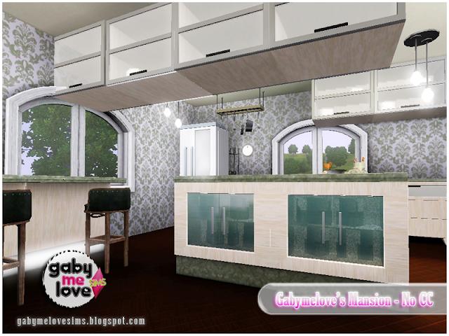 Gabymelove's Mansion |NO CC| ~ Lote Residencial, Sims 3. Cocina.
