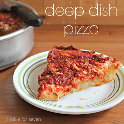 friday pizza night deep dish pizza with your favorite toppings