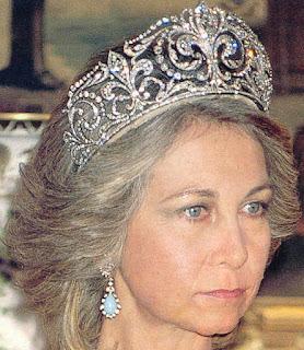 Queen Victoria Eugenie Ena Spain Fleur de Lys Tiara Ansorena Sofia