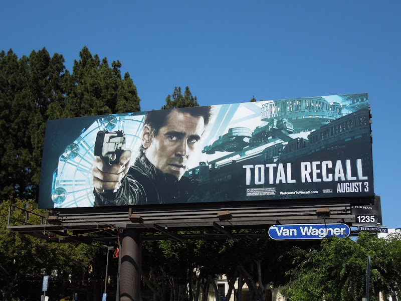 Total Recall Colin Farrell billboard