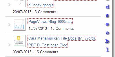 Membuat widget Recent post blogger