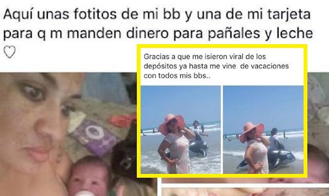 """Mujer pide dinero para su """"bendición"""" en face y se va de vacaciones a la playa"""