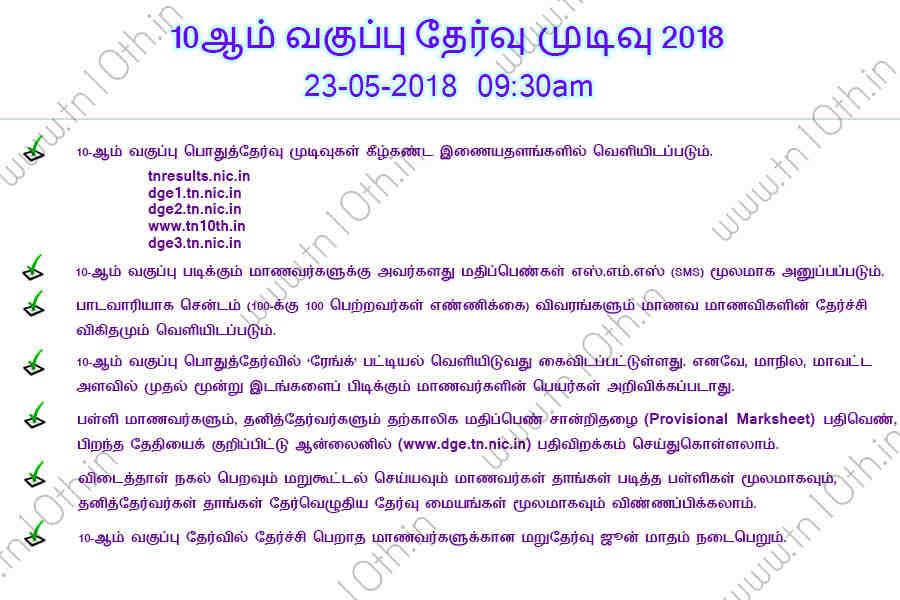 Tamilnadu 10th Result 2019 release date April 29 TN SSLC tnresults