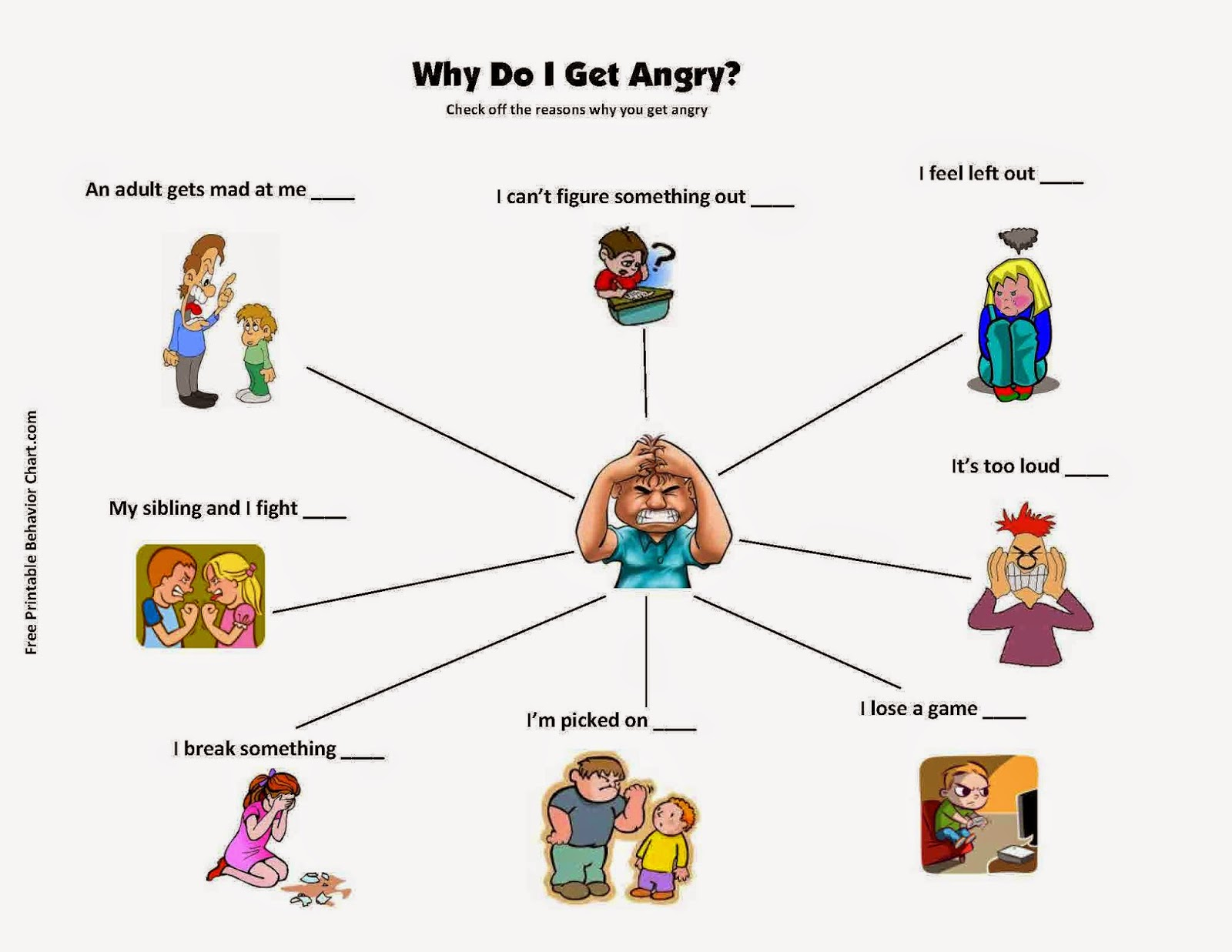 Counseling Resources For Professionals And Parents Anger Managment Worksheets For Children