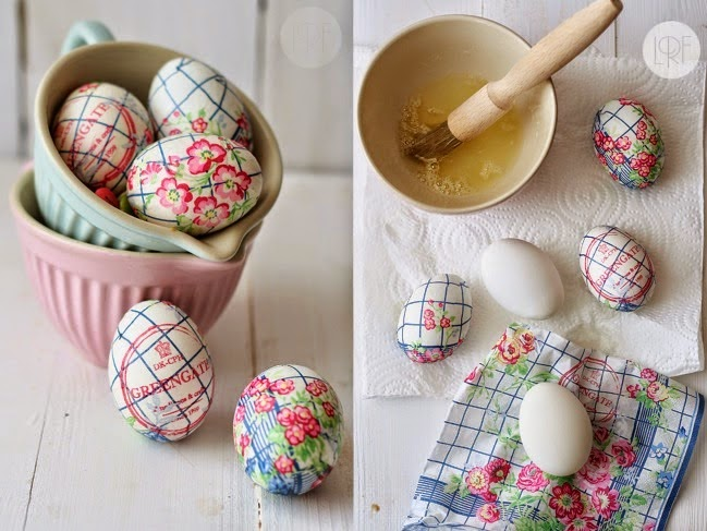decoupage eggs tutorial
