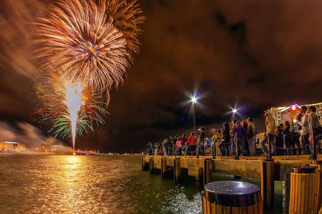 Ano-novo nas praias de Miami