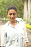 Rakul Preet Singh in Jeans and White Shirt At Jaya Janaki Nayaka le Logo Launch ~  Exclusive 005.JPG