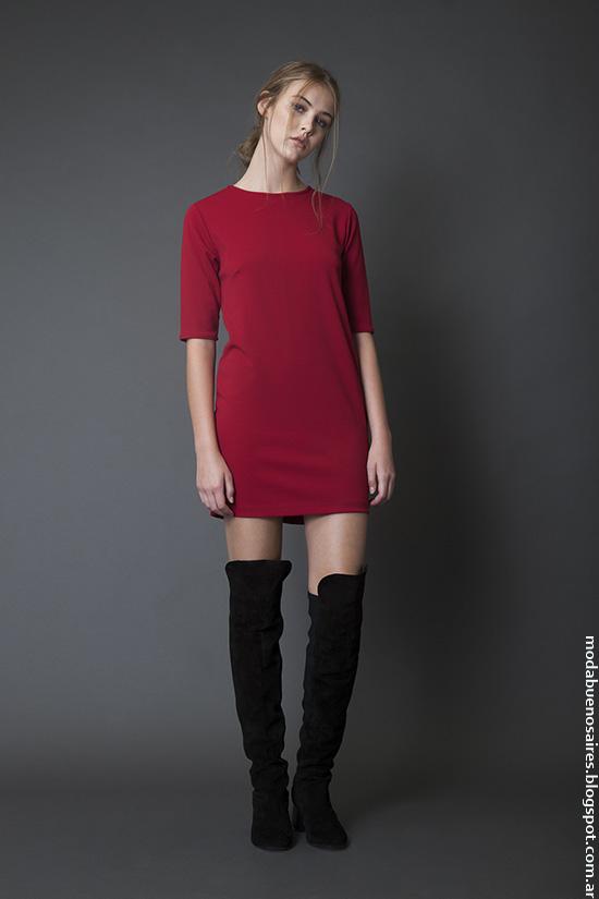 Moda invierno 2016 Bled ropa de mujer vestidos.