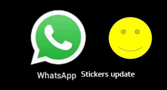 WhatsApp stickers update