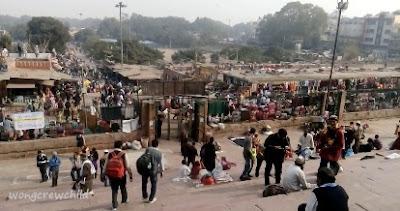 pasar masjid jama delhi india