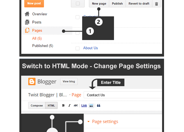 changing compose mode to html
