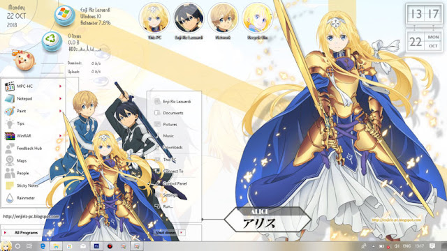 Sword Art Online: Alicization Theme Win 10 Ver  1809 by Enji