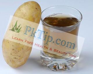 Potato Juice For Dark Circles