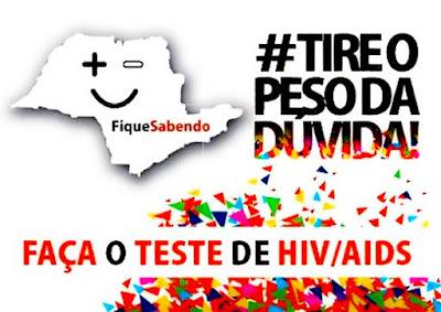 """CAMPANHA """"FIQUE SABENDO"""" PROMOVE TESTES GRATUITOS E SIGILOSOS DE HIV E SÍFILIS"""
