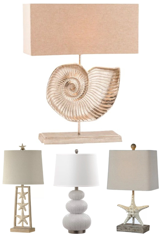 Sculptural Coastal Table Lamps
