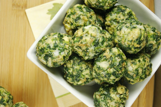 I have been making these Spinach Balls from The Kitchen is My Playground for years! They are so delicious, even my little one loves them. I often bring these as a side dish to share at a dinner party and plan on having these for Thanksgiving! www.throughthepainteddoor.com