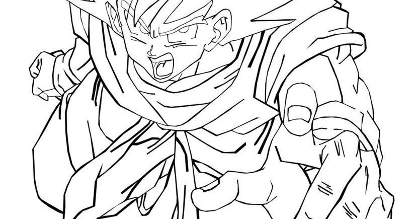Desenhos Para Colorir Colorir Goku: Desenhos Goku Para Colorir