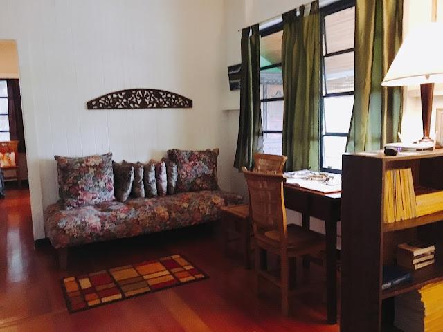living room at Dreams Come True on Lana'i Island in Hawai'i