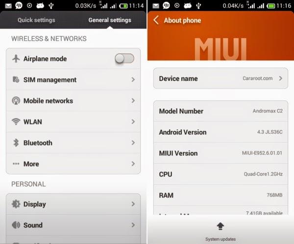 (4.3) ROM Xiaomi MIUI v5 Andromax C2 (UPDATE) 1