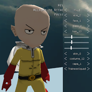 Saitama Skin Attack On Titan Tribute Game