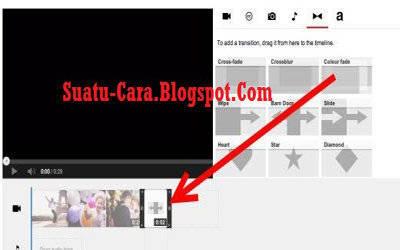 Menambahkan efek transisi ke video - youtube