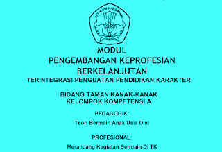 Download Modul Materi PKB TK Terlengkap