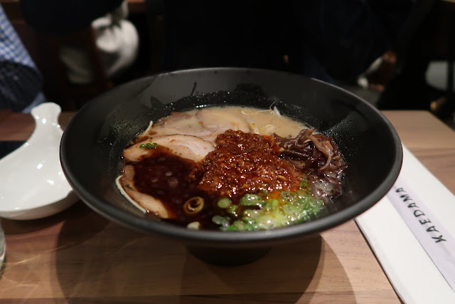 Karaka Spicy Ramen from Ippudo's San Francisco restaurant opening.