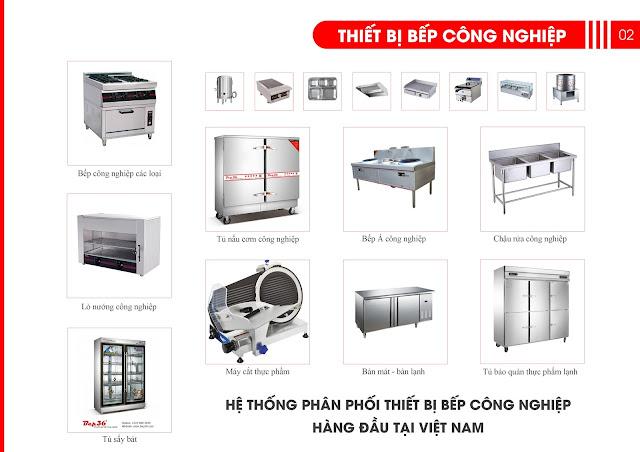 báo giá thiết bị bếp công nghiệp, báo giá thiết bị bếp nhà hàng
