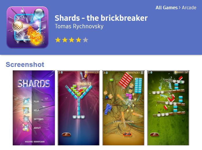 Shards at Tizen Store