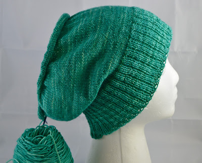 hand knit slouchy hat for sale at https://www.etsy.com/shop/JeannieGrayKnits