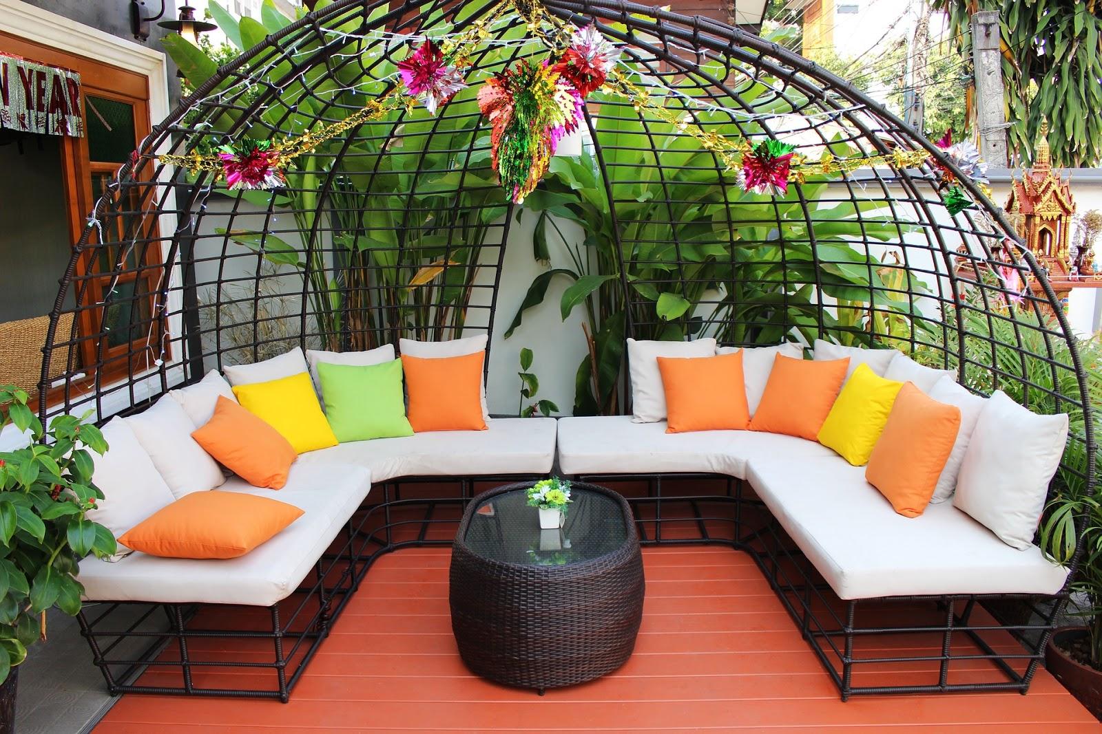 Terrasse Verschönern modernen patio möbel akzente und zubehör - moderne terrassen