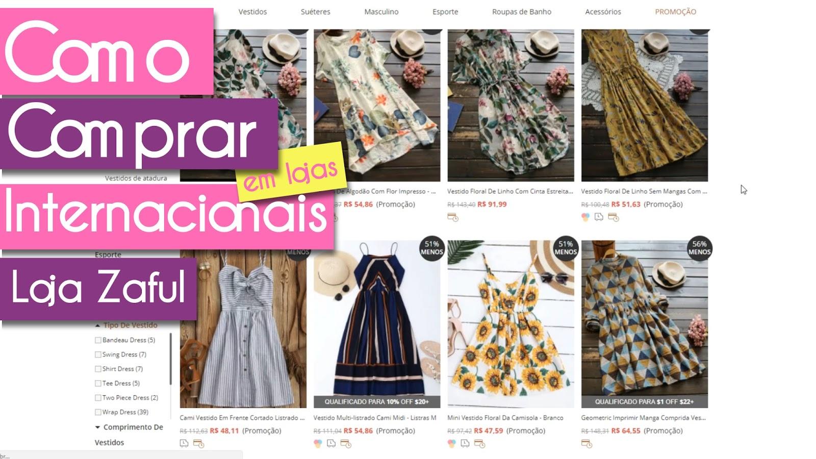 Como comprar na Loja internacional Zaful - Dicas de compras