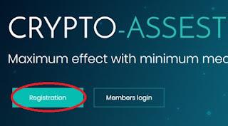 Регистрация в проекте Crypto-Asset