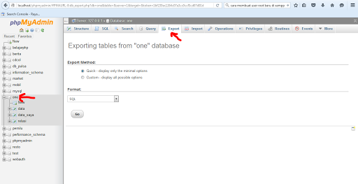 Import Database MySQL di PhpMyAdmin