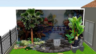Taman relief feng shui  ala jasa tukang taman surabaya