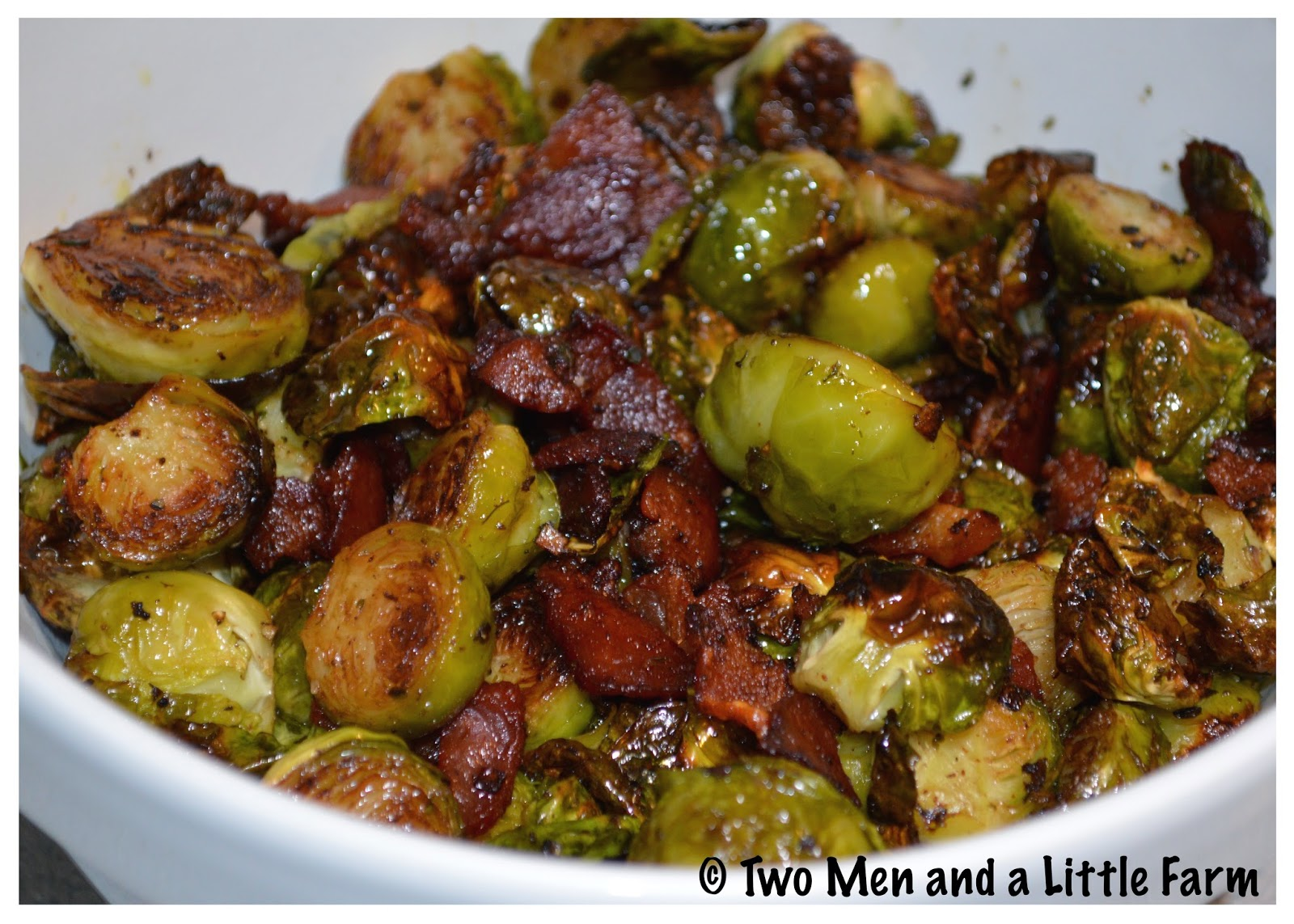 Two Men And A Little Farm Oven Roasted Brussels Sprouts