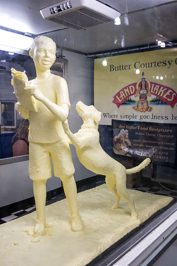 Butter Sculpture at the York Fair