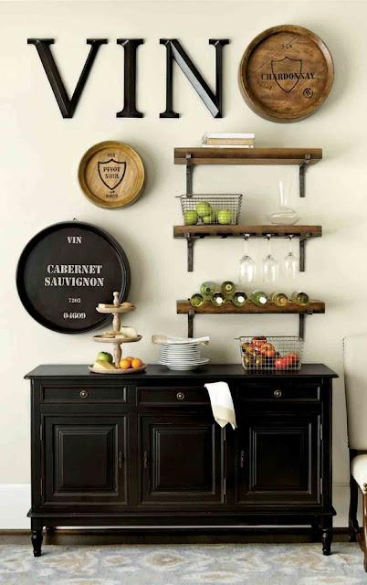 Idéia linda para decorar área gourmet